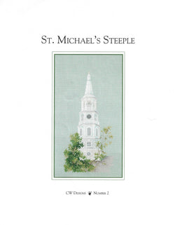CW Designs St. Michaels Steeple church cross stitch pattern