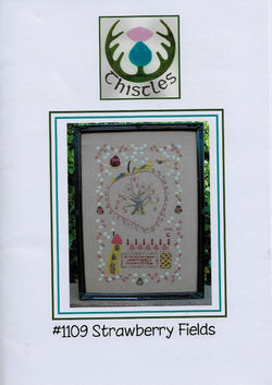 Thistle Strawberry Fields cross stitch pattern