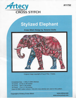 ArtecyStylized Elephant cross stitch pattern