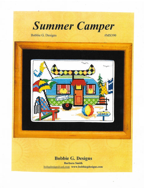 Bobbie G. Summer Camper MS390 camping/RV cross stitch pattern