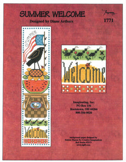 Imaginating Summer Welcome 1771 cross stitch pattern