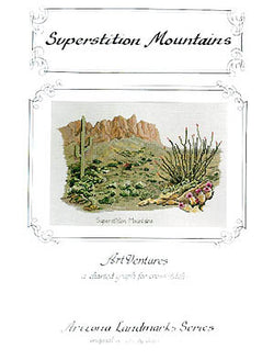 Art Ventures Superstition Mountains cross stitch pattern