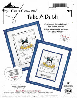 Calico Crossroads Take a Bath cross stitch pattern