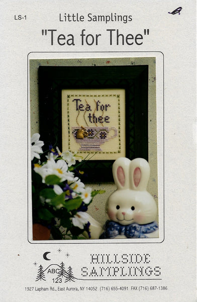 Hillside Samplings Tea for Thee cross stitch pattern
