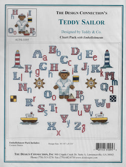 Design Connection Teddy Sailor cross stitch pattern