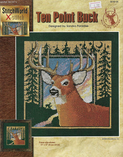 StitchWorld X-stitch Ten point buck deer cross stitch pattern