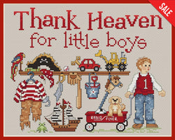 Sue Hillis Thank Heaven for Little Boys L430 cross stitch pattern