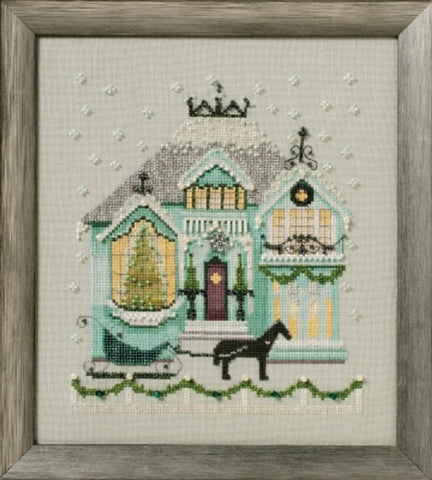 Mirabilia The Coffee House Holliday Village NC280 victorian cross stitch