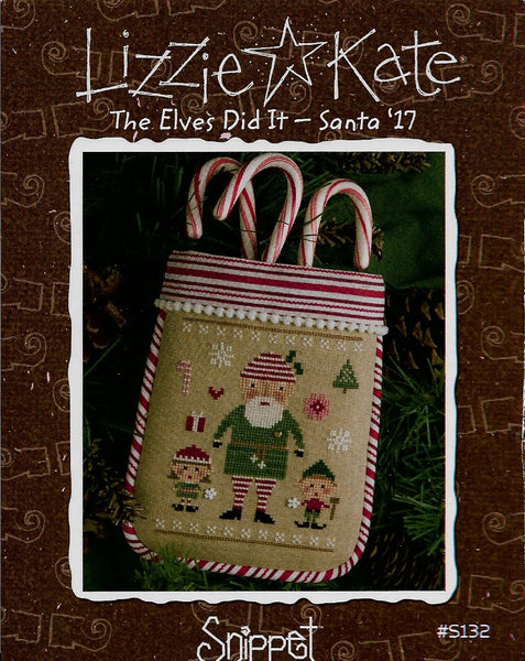 Lizzie Kate The Elves Did It - Santa '17 cross stitch pattern