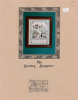 Forget Me Not in Stitches The Garden Sampler cross stitch sampler