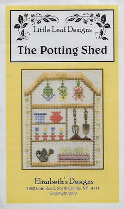 Elizabeths designs The Potting Shed gardening cross stitch pattern