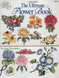 American School of Needlework Ultimate Book of Flowers cross stitch pattern