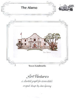 Art Ventures The Alamo San Antonio Texas cross stitch pattern