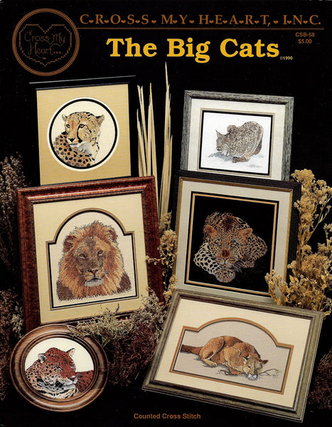 Cross My Heart The Big Cats CSB-58 cross stitch pattern