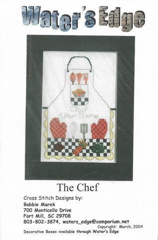 Water's Edge The Chef cross stitch pattern