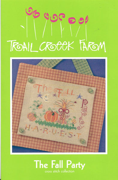 Trail Creek farm The Fall Party cross stitch pattern
