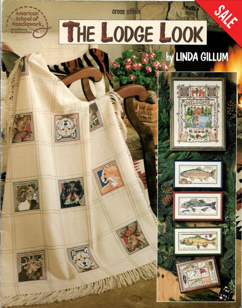American School of Needlework The Lodge Look 3643 nature cross stitch pattern