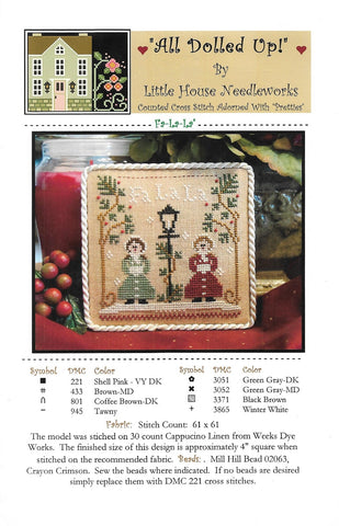 Little House Needleworks Fa-la-la All Dolled Up christmas cross stitch pattern