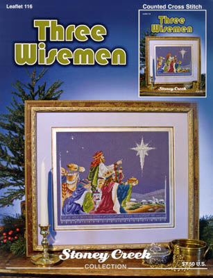 Stoney Creek Three Widemen LFT116 Christmas cross stitch booklet