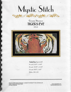 Mystic Stitch Tigers Eye cross stitch pattern