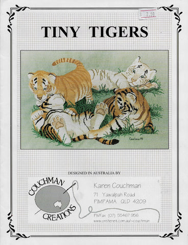 Coachman Creations Tiny Tigers cross stitch pattern