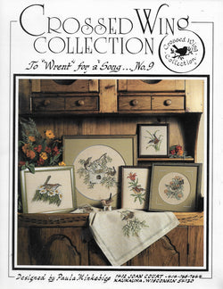 Crossed Wing Collection To Wrent for a Song 9 bird cross stitch pattern