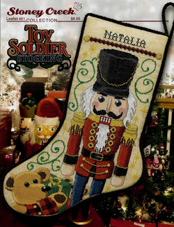 Stoney Creek Toy Soldier Stocking LFT461 Christmas Nutcracker cross stitch pattern