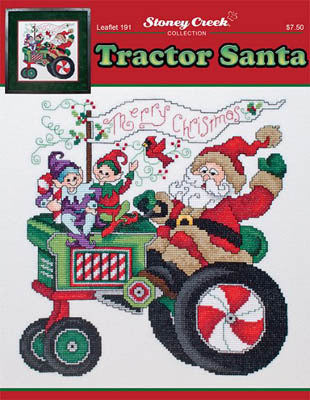 Stoney Creek Tractor Santa LFT191 cross stitch pattern