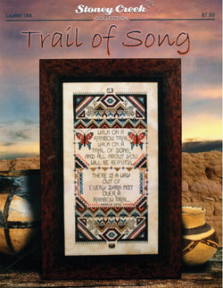Stoney Creek Trail of Song LFT184 Navaho Native American song  cross stitch booklet