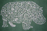 White Willow designs Tribal Hippo cross stitch pattern