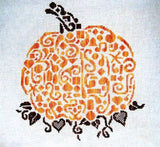 White Willow Tribal pumpkin halloween cross stitch pattern