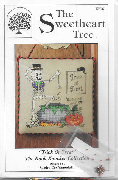 Sweetheart Tree Trick or Treat cross stitch kit