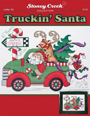 Stoney Creek Truckin' Santa LFT192 cross stitch pattern