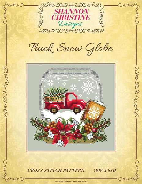 Shannon Christine Truck Snow Globe christmas cross stitch pattern