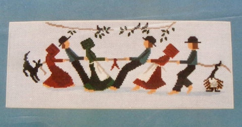 Diane Graebner Tug O' War Amish cross stitch pattern
