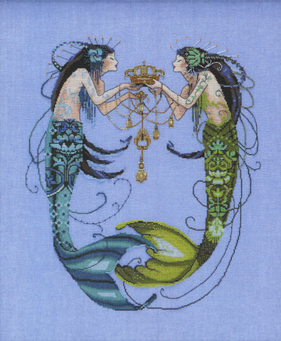 Mirabilia Twin Mermaids MD-141 victorian cross stitch