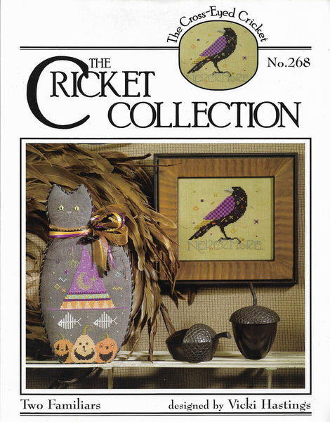 Cricket Collection Two Familiars CC268 Halloween cross stitch leaflet