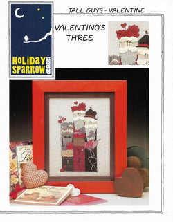 Holiday Sparrow Tall Guys Valentino's Three cross stitch pattern