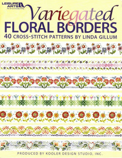 Leisure Arts Variegated Florl Borders cross stitch pattern