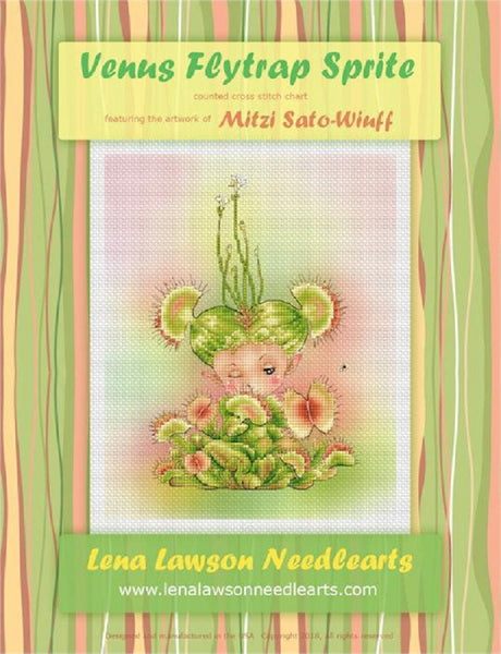 Lena Lawson Venus Flytrap Sprite cross stitch pattern