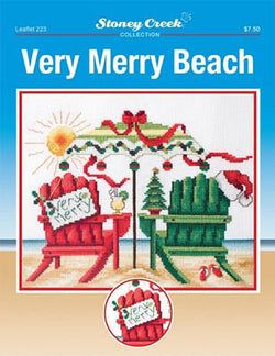 Stoney Creek Very Merry Beach LFT223 Christmas cross stitch booklet