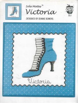 Green Apple Victoria shoes cross stitch pattern