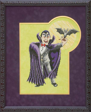 Glendon Place Vinny the Vampire halloween cross stitch pattern