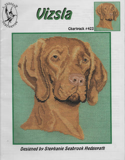 Pegasus Vizsla dog cross stitch pattern