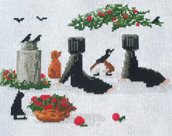 Diane Graebner Waiting for the milk wagon DGX-199 cross stitch pattern
