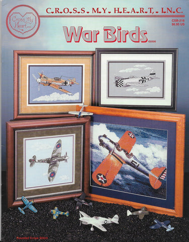 Cross My Heart War Birds CSB-216 Messerschmitt Spitfire P-47 PT-20A cross stitch pattern