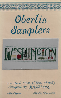 Oberlin Washington cross stitch pattern