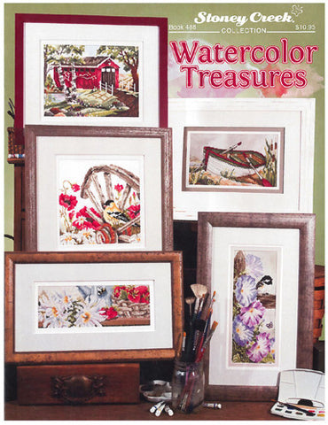 Stoney Creek Watercolor Treasures BK488 cross stitch booklet