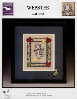 Twisted Threads Webster .. a cat cross stitch pattern
