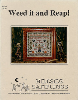 Hillside Samplings Weed it and Reap gardening cross stitch sampler pattern